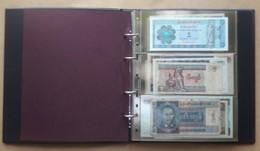 Lot De Billets De Différents Pays Dans Un Classeur (tous états) Voir Les 55 Photos Et Le Descriptif - Banknotes
