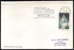 MOTORBOATING - FRANCE CANNES-ENTREPOT 1968 - GRANDE SEMAINE MOTONAUTIQUE - MYCCA - AOUT A CANNES - Briefmarken