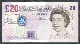 England - 20 Pounds 1999 - 2006 - Pick  390b - 1952-… : Elizabeth II