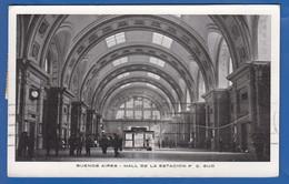 Argentina; Buenos Aires; Hall De La Estacion F. C. Sud; 1934 - Argentinien