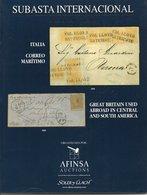Italia Correo Maritimo & Great Britain Used Abroad In Central And South America - Afinsa 2000 With Results - Catalogues De Maisons De Vente