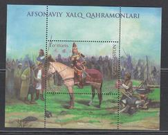 Uz 1403 Bl. 102 Uzbekistan Usbekistan 2019 Queen Tomyris On Horse - Uzbekistan