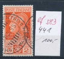 Italien  Nr.  441   O  (ef 583  ) Siehe Scan - 1900-44 Victor Emmanuel III