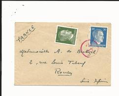Auschwitz-Oswiecim-lettre Carte De Visite Censure Pour Rouen-Pologne--Allemagne-Reich-Déportation-STO- 1943,1944,1945 - Marcophilie (Lettres)