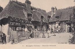 FRANCE 1908  CARTE POSTALE DE HOULGATE  CHAUMIERE NORMANDE - Houlgate