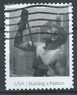 VERINIGTE STAATEN ETATS UNIS USA 2013 BUILDING A NATION: MAN GUIDING BEAM F USED SC 4801L MI 4994 YV 4633 SG 5430K - Estados Unidos