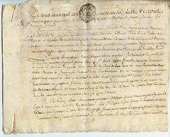 PARCHEMIN GENERALITE DE CHALONS 1783 RECONNAISSANCE DE DETTE A DECHIFFRER - Gebührenstempel, Impoststempel