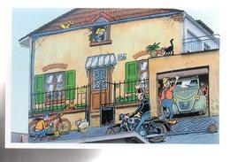 REF 459 : CPM Bande Dessinée BD Les Murs Peints D'Angouleme Margerin Citroen 2cv Moto Motard - Comicfiguren