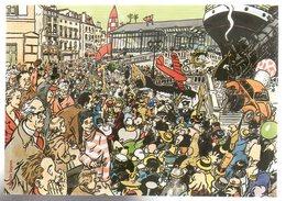 REF 459 : CPM Bande Dessinée BD Angouleme 2002 Fusée Tintin - Comicfiguren