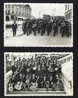 Conjunto De 2 Postais Fotográficos AVEIRO Banda De Musica. Set Of 2 Vintage Old Photo Postcards PORTUGAL - Aveiro