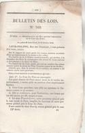 Bulletin Des Lois 769 De 1840 - Relative Aux Paquebots à Vapeur Marseille Toulon, Arles Marseille, Port Vendres Antibes - Décrets & Lois