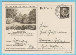 """J.M. 33 - """"Lernt Deutschland Kennen - N° 21 -Série 41-179-1-B5 - Detmold Denkmal Schlossplatz - Année R. Wagner - Allemagne"""