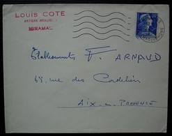Miramas 1958 Louis Coté Artisan Menuisier - Marcophilie (Lettres)