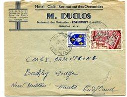 LOIRE ATLANTIQUE De PORNIC Env. De 1955 En Tête Hotel Restaurant Des OCEANIDES - Postmark Collection (Covers)