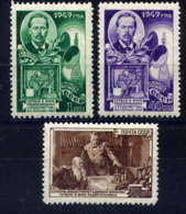 RUSSIE - 1334/1336**  - ALEKSANDR POPOV - 1923-1991 USSR