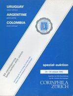 Uruguay, Argentine, Colombia - Corinphila 1982 - Catalogues De Maisons De Vente