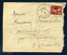 Rodez Aveyron 30 7 14 Avant Veille Déclaration De Guerre Mobilisation 28 7 Franchise FM 5 Semeuse Pour Faugères Hérault - Guerra De 1914-18