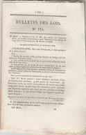 Bulletin Des Lois 774 De 1840 - Ecole Spéciale Militaire - Haras - Chemin De Fer Strasbourg à Bâle - Décrets & Lois