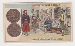 AC347 - CHROMO CHOCOLAT DEBAUVE & GALLAIS - Pièce De 5 Centimes Tunisie - 1892 - Chocolat