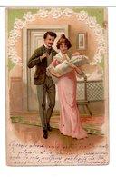 CPA - COUPLE ET ENFANT - 1900-1949