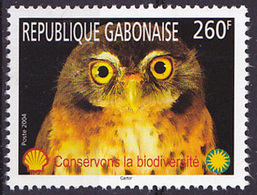 Timbre Oblitéré N° 1172(Yvert) Gabon 2004 - Biodiversité, Oiseau, Rapace Ou Chouette - Gabon