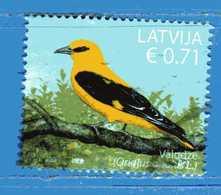 (Us.3) LETTONIA °- 2019 - UCCELLI BIRDS OISEAUX.  Usato - Lettonia
