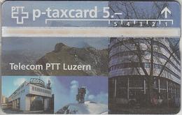 SUISSE - PHONE CARD - TAXCARD-PRIVÉE * V64A  *** TELECOM & LUZERN  *** - Schweiz