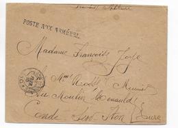 1915 - BUREAU FRONTIERE L LINEAIRE 9 JOURS AVANT SA FERMETURE ! - BCM LYON - ENVELOPPE FM => CONDE SUR ITON - Marcophilie (Lettres)