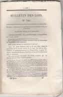 Bulletin Des Lois 790 De 1841 - Annulation Brevets Invention ( Avec Description Brevet ) - Bonifacio Corse - Décrets & Lois