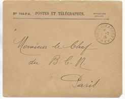 1915 - BUREAU FRONTIERE K - NOISY LE SEC - ENVELOPPE FM => BCM PARIS - Marcophilie (Lettres)