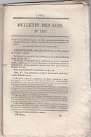 Bulletin Des Lois 793 De 1841 -  Brevets Invention - école Pharmacie Médecine - Pont  à Bonnal Doubs - Décrets & Lois