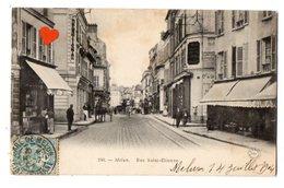 40287-ZE-77-Melun-Rue Saint-Etienne-------------animée-attelage-commerces - Melun