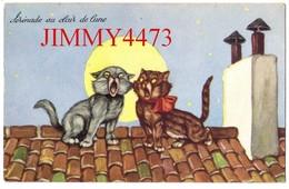 CPA - Sérénade Au Clair De Lune En 1957 - Deux Chats Sur Un Toit - N° 503/5 - Edit. J G  Paris - Gatos