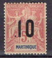 MARTINIQUE ( POSTE ) : Y&T N°  81  TIMBRE  NEUF  AVEC  TRACE  DE  CHARNIERE , A  VOIR . - Unused Stamps