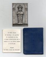 Placchetta In Alluminio Bambino Gesù - (5,50 X 3,50) - In Rilievo - Con Custodia E Libretto - Vedi Foto - (MW2734) - Italia
