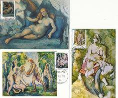 D38901 - 10 CARTES MAXIMUM CARDS FD 2018 NETHERLANDS - PAUL CÉZANNE POST-IMPRESSIONISM - NUDE READ!! CP ORIGINAL - Impressionisme
