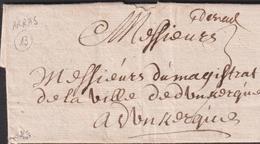 LETTRE DU PAS DE CALAIS D'ARRAS DE 1703 LAC TB - Storia Postale