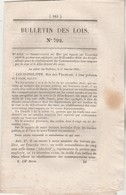 Bulletin Des Lois 792 De 1841 - Cathédrale Chartres - Chemin De Fer Mines Anzin St Waast Le Haut à Denain - Décrets & Lois
