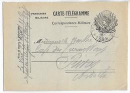 1915 - CARTE TELEGRAMME FM MODELE RARE - Du SP 138 => PRIVAS (ARDECHE) - Marcophilie (Lettres)
