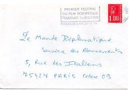 GARONNE / Hte - Dépt N° 31 = TOULOUSE GARE 1976 = FLAMME Type II = SECAP ' PREMIER FESTIVAL Du FILM SCIENTIFIQUE ' - Marcophilie (Lettres)