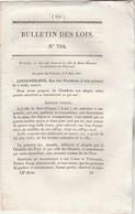 Bulletin Des Lois 794 De 1841 - St Etienne - Droits Navigation Canal Latéral à La Loire, , Canal Des Ardennes - Décrets & Lois