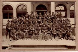 MOSELLE ?? - MILITARIA - CARTE PHOTO CHARLES MONTAG , BITCHE - MUSIQUE - BATAILLON DE CHASSEURS ALPINS , FANFARE - Regimente