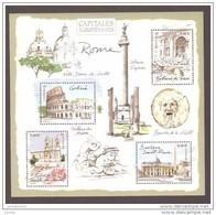 France  Bloc Feuillet Neuf Luxe ** 2002 N° 53 Timbre 3527 à 3530 Capitales Europeennes Rome Lot Vendu Sous Faciale - Blocs & Feuillets