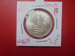 """Baudouin 1er. 50 Francs """"EXPO 1958"""" VL. ARGENT. SUPERBE+++(A.3) - 1951-1993: Baldovino I"""