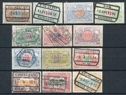 Belgien EP Ex.Nr.28/41           O  Used + *  Unused         (1108) - Bahnwesen