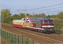 633 - BB 67613 SNCF Avec Autorail Picasso ABFC, à St-Mars-la-Brière (72) - - Otros Municipios