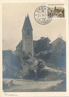 D38905 CARTE MAXIMUM CARD 1950 LIECHTENSTEIN - BENDERN PARISH CHURCH SAINT MARIA CP ORIGINAL - Kerken En Kathedralen