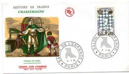 France N° 1480 Y. Et T. Paris Cachet Commémoratif Salon De L'enfance Du 31/10/1966 - Postmark Collection (Covers)