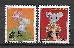 France 2020 - Nouvel An Chinois – Année Du Rat ** (petits Formats) - Francia