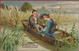 Romantiek Romance Couple Liefde Amour Love Carte Fantaisie Fantasiekaart Doree Relief Gaufree Embossed CPA - Couples